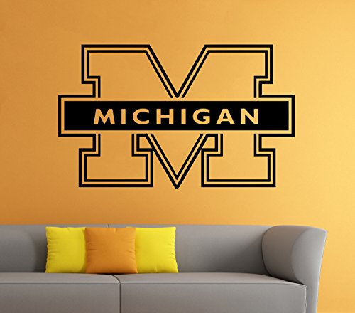 - Wall Decal Sticker Michigan Wolverines Logo NCAA Home Interior Removable Decor (22