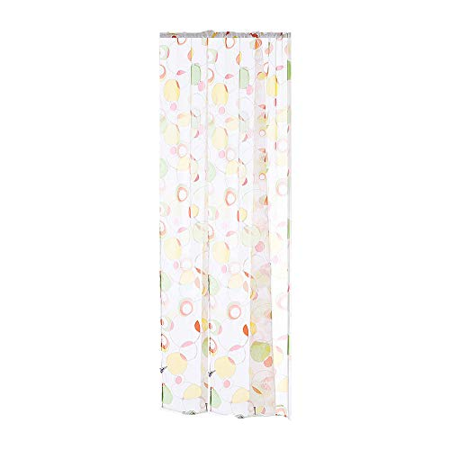 Jaromepower Watercolor Circle Print Curtains Pattern Sheer Curtain Tulle Window Door Drape Curtain for Bedroom Living Room Tulle Voile Curtain Drape Panel Sheer Scarf - Pattern Beaded Scarf