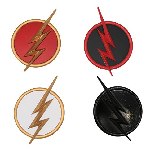 Flash Badges Symbol Cosplay Costume Accessories 4 Set Props for Halloween