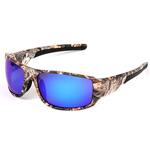 Isafish Polaroid Fishing Sunglasses for Men with Camouflage Frame Glasses Outdoor Sport Hunting Boating - Best Fly Sunglasses Fishing