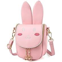 Pinky Family Super Cute Girls Purse Bunny Ear Shoulder Bag Messenger Bag Girls Gifts (pattern 1 pink)