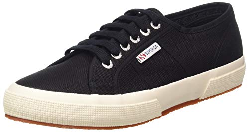 Superga 2750 Cotu Classic, Unisex Adults' Low-Top Trainers, Black, 5.5 UK (39 EU) (Superga Kids Classic Shoe)