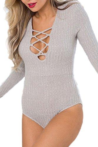 Prograce Bandage Stretch Bodysuit Jumpsuit