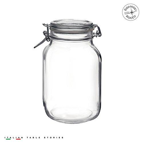 0M02121197 Fido Glass Canning Jar Italian 67¾ oz-2 Liter, 67.75 oz, Clear ()