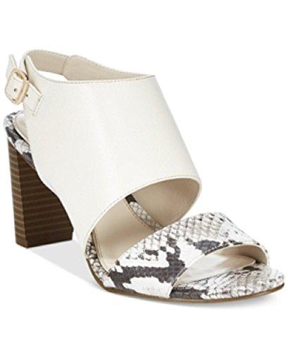 Alfani Womens Iddris Leather Open Toe Casual Slingback, Natural Python, Size 9.0 - Alfani Slingback