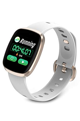 Smart Watch Big Color Touch Screen Fitness Activity Tracker Heart Rate Monitor Waterproof Wrist Band Pedometer (Best Smart Touch Casual Fitness Trackers)