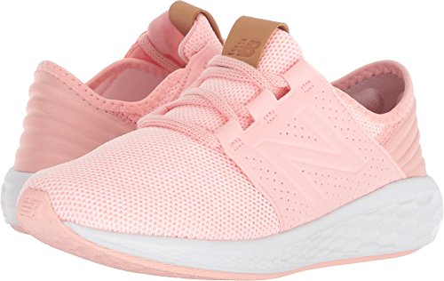 New Balance Girls' Cruz V2 Fresh Foam Running Shoe, Himalayan Pink, 2.5 M US Little Kid
