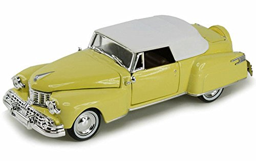 Arko 1948 Lincoln Continental Hard Top, Yellow 24801 - 1/32 Scale Diecast Model Toy Car