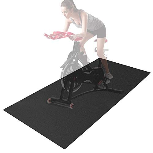 Folding Fitness Equipment Mat and Floor Protector for Treadmills, Exercise Bikes,Premium Damping Vibration Durable…