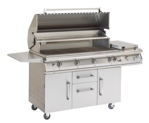 Cart for Big Sur Grills with 2 Doors, 2 Drawers and Tank pull out by AEI