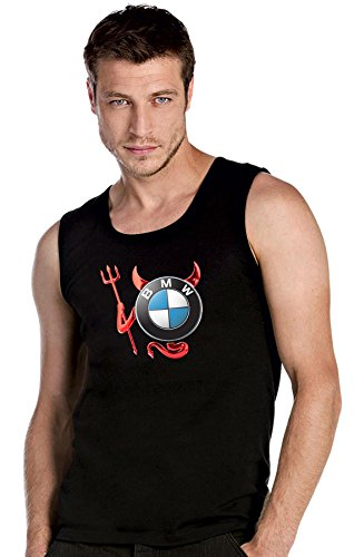 BMW - Devil Teufel Auto Logo car schwarze Top Tank T-Shirt -2200