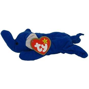 TY Teenie Beanie Babies Royal Blue Peanut the Elephant Stuffed Animal Plush Toy by G35832784