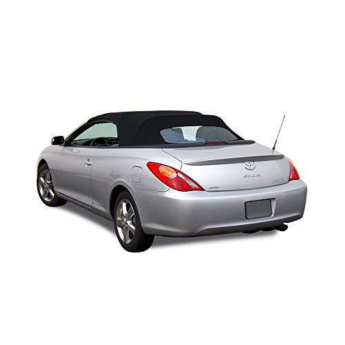 Compatible With Toyota Solara Convertible Soft Top & Glass Window 2004-2009 Stayfast (Black)