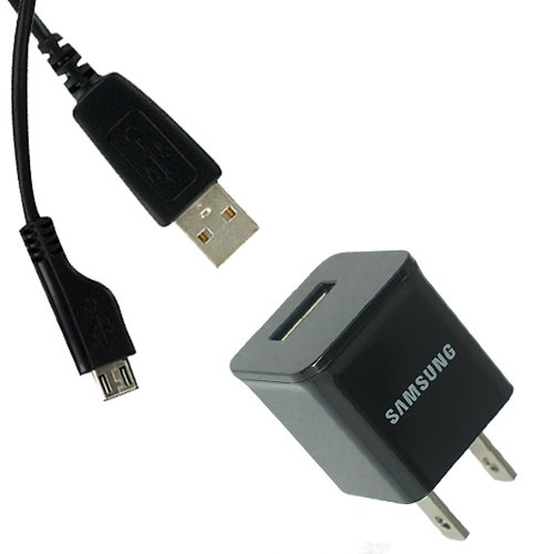 Official Samsung 1.0A Home Wall AC Travel Charger Adapter with USB 2.0 Data Sync Charge Cable for Samsung Galaxy S III