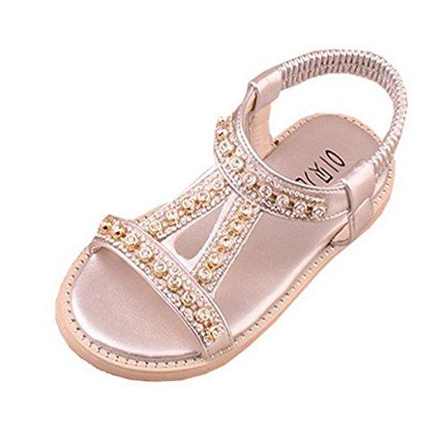 Las Chicas Elegantes Joyas De Diamantes De ImitacióN Sandalias Ocasionales Sandalias De Playa De Verano De Gladiador Al Aire Libre Plateado