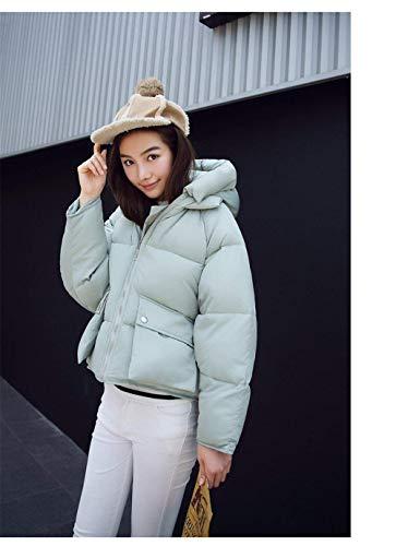 BIRAN Manica Piumino Gr Outdoor Incappucciato Eleganti Grazioso Cappotto Lunga Addensare Donna Invernali Fashion Piumini Vita Alta Trapuntata Corto Calda Giacca 4x4dwrHq8n