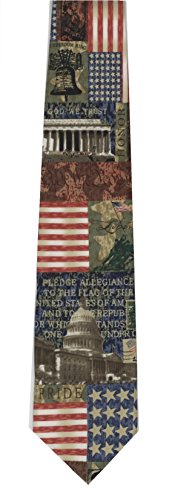 Eagles Wings In God We Trust Men's Poly Neck Tie