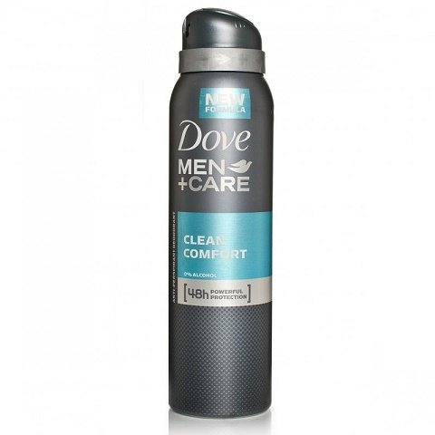 New Dove Men+Care Clean Comfort Anti-Perspirant Deodorant Spray 150 Ml (2 Can)
