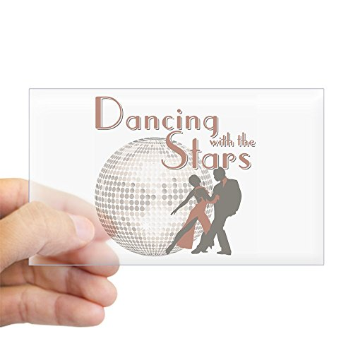 Price comparison product image CafePress - Retro Dancing With The Stars Rectangle Sticker - Rectangle Bumper Sticker Car Decal