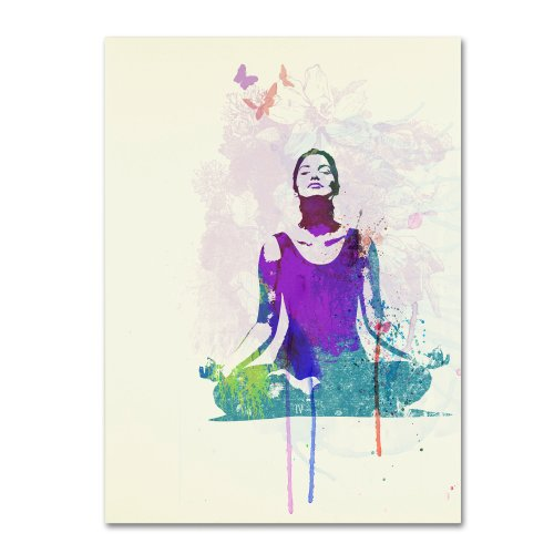 picture of Trademark Fine Art Meditating Mind by Naxart Canvas Wall Art, 24 by 32-Inch