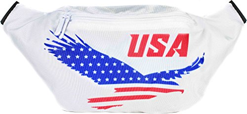 Sojourner USA American Eagle Fanny Pack - Flag Packs, 4th of