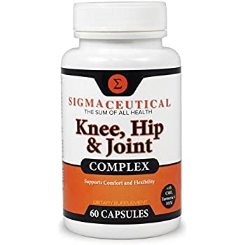 Joint Support for Knees & Hips w/ Hyaluronic Acid Turmeric Curcumin MSM Pain Capsules (Non-GMO)