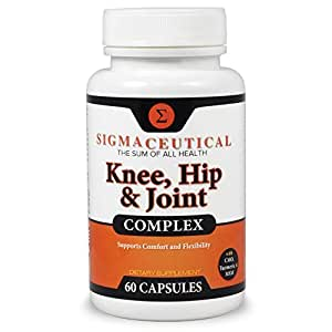 Joint Support for Knees & Hips w/Hyaluronic Acid Turmeric Curcumin MSM Pain Capsules (Non-GMO)