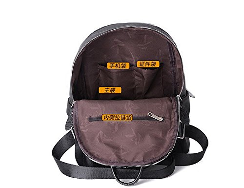 Nere Di Voguezone009 Tracolla Borse Ccaybo181348 A Zaini Scuola Ornato Daypack Donne Nylon SSwC0Pq