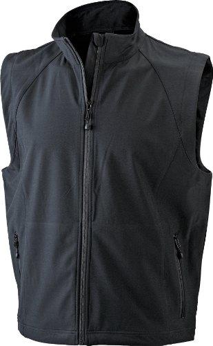 James & Nicholson Herren Jacke Softshellweste schwarz (black) X-Large