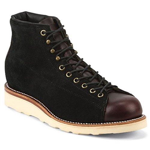 Chippewa Herren 6-inch Plain Toe Lugged Boots |handgefertigt in den USA | Leder mit Vibram® Heritage Sohle Black Whirlwind