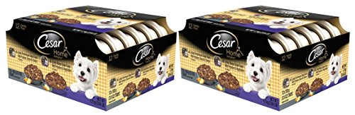 Cesar Home Delights Porterhouse Steak & Ribeye Steak Variety Pack Wet Dog Food 3.5 Oz. (24-Count)