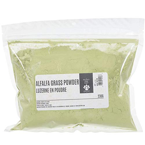 Dinavedic Alfalfa Grass Leaf Powder - 230g | Superfood for Raw Green Smoothies & Baking, Abundant Vitamins, Minerals, Antioxidants, Great Taste, Vegan