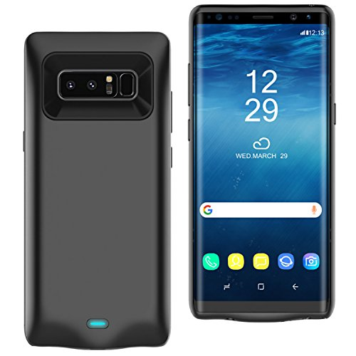 Galaxy Note 8 Battery Case, SPIDERCASE 5500mAh Portable Charging Case for Samsung Galaxy Note 8(6.3inch) Rechargeable Extended Battery Juice Pack Protective Charger Case-Black
