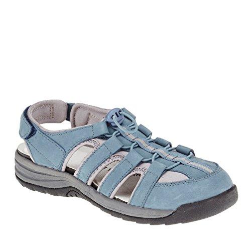 Drew Element Sandalo In Denim Blu Nabuk