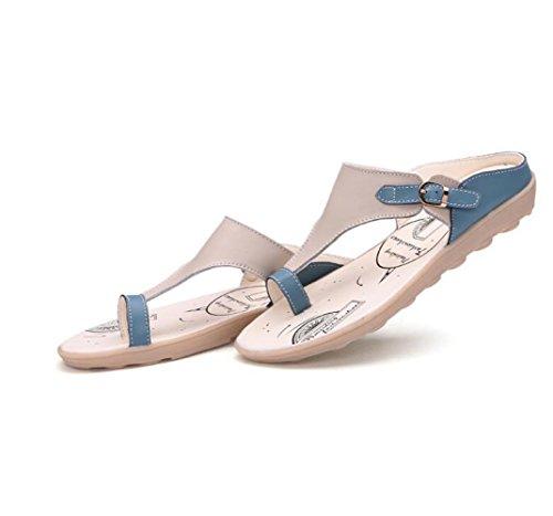 Sandales Maman Blue Antidérapantes de Femmes Femmes Plates pour Chaussures Sandales Enceintes Confortables Pantoufles BFMEI pour Décontractées Wedges v0qg07wa