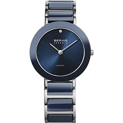 BERING Time Ladies Limited Edition Diamond Black Ceramic Watch with Scratch Resistant Sapphire Crystal. 11429-CHARITY2