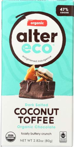 Alter Eco Dark Chocolate Coconut Toffee 2.82 OZ (Pack of 12)