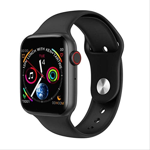 Smart Watch, Men Women Heart Rate Monitor Call Message Reminder for Android Apple Smartwatch Black