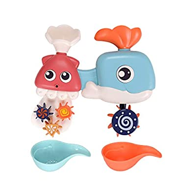 Thinktoo Children's Bathroom Whal Shower Toy Baby Toy Water Spray Toy Gift Set Gift Box for Baby, Kiddie, Kids, Adult, Infant, Toddlers Sports Outdoor Play Toys: Arts, Crafts & Sewing