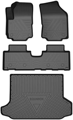 SUPER LINER All Weather Floor Mats for 2018-2021 Chevrolet Equinox -Custom Fit Car Floor Mats Cargo Liner Rear Cargo Tray Trunk Waterproof Interior Accessories