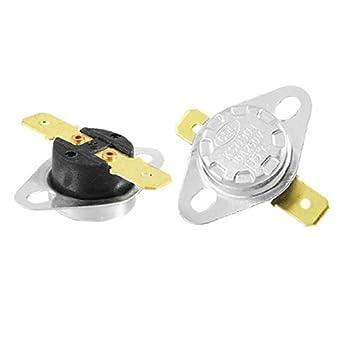 2 Pcs 135 Celsius normal Fechar termostato Térmica Interruptor KSD301