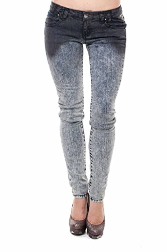 VIRGIN ONLY Women's Slim Fit Skinny Jeans (Ombre Gray (Ombre Plaid Short)