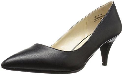 Annie Shoes Women's Doll Wide Calf Dress Pump - Black - 8...