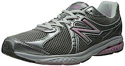 New Balance Women's WW665 Fitness Walking Shoe,Grey/Pink,6 2A US
