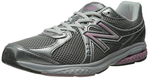 New Balance Women's WW665 Fitness Walking Shoe,Grey/Pink,7 D US
