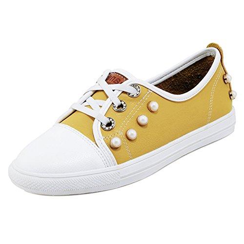 Coolcept Mujer Primavera Sneaker Zapatos Yellow