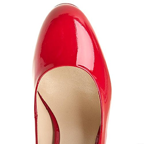 Women's HÖGL Smart High Heel Closed Pump Leather Court Shoes HO 33 Red Patent (40000) Red EjVr0jjYEX