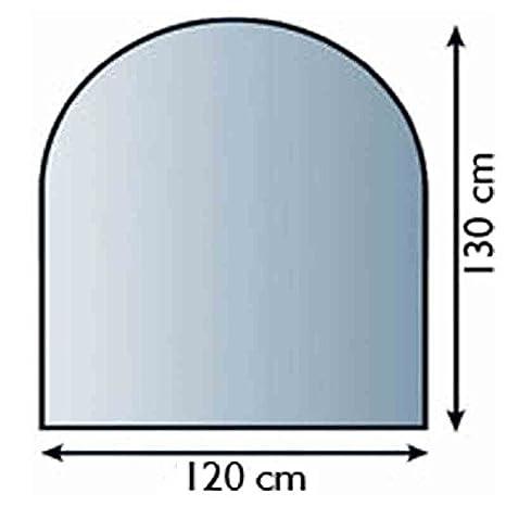 6 mm ESG Kamin-Bodenplatte 100 x 100 cm Kamin Hitzeschutz Funkenschutzplatte Glas bijon/® Glasplatte f/ür Kaminofen Kreis mit Dichtlippe Glasbodenplatte