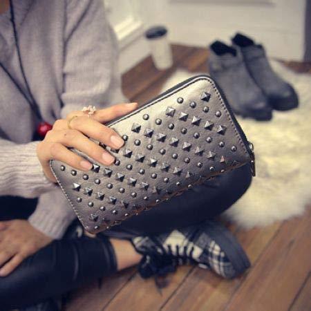 FelixStore Rivets Styles Women Wallets South Korea Trend Female Long Wallet Fashion Purse Feminina Carteira