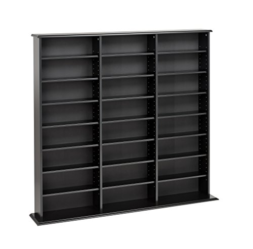 41jeH6FfB2L - Prepac Triple Width Wall  Storage Cabinet, Black